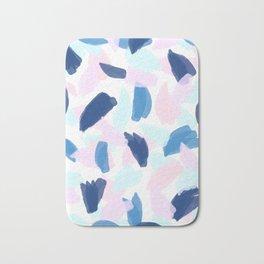 Blue and Pink Paint Bath Mat
