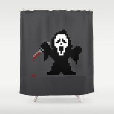 Scream Pixels Shower Curtain