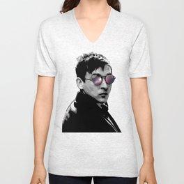 Hipster Oswald (Mono) Unisex V-Neck