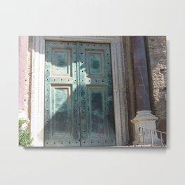 Rome Door Metal Print