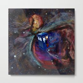 FLYING TARDIS Metal Print
