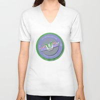 pixar V-neck T-shirts featuring pixar disney toy story. buzz lightyear flight school  by studiomarshallarts