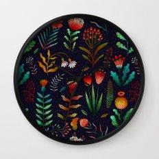 Bright flowers Wall Clock