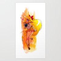 sailor venus Art Prints featuring Sailor Venus by Peach Mork