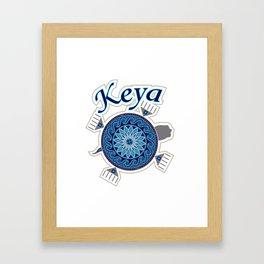 Turtle Keya Framed Art Print