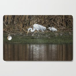 Great and Snowy Egrets, No. 2 Cutting Board