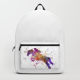 Horse show 07 in watercolor Backpack