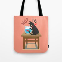 goldfish Tote Bags featuring Goldfish by BATKEI