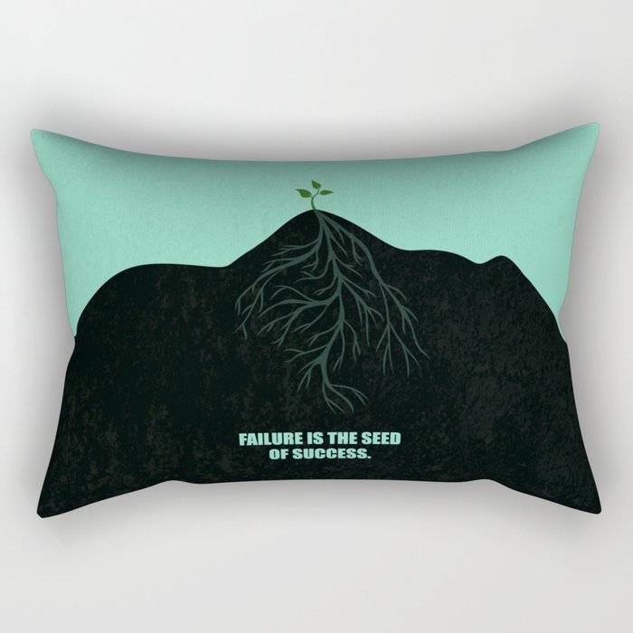 Lab No. 4 -Failure Is The Seed Of Success Corporate Start-Up Quotes Rectangular Pillow