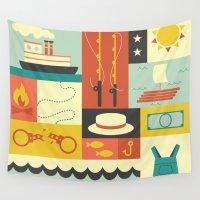 finn Wall Tapestries featuring Huckleberry Finn by Ariel Wilson