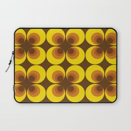 70s Yellow circles Laptop Sleeve