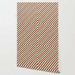 Festive Candy Stripes Wallpaper