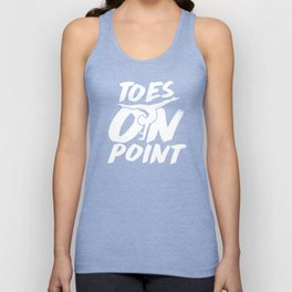 Cute Gymnast Toes On Point Leotard White Unisex Tank Top
