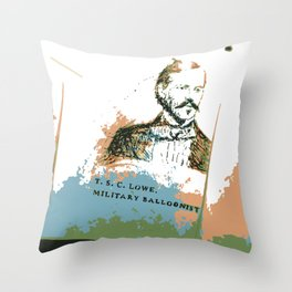 T. S. C. Lowe - Military Baloonist Throw Pillow