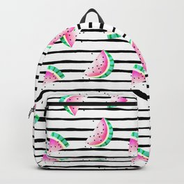 summer watermelon with black stripes. Backpack