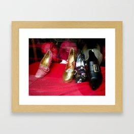 Costume Shop Shoes Framed Art Print