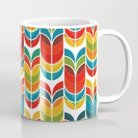 funky Mugs featuring Tulip by Picomodi