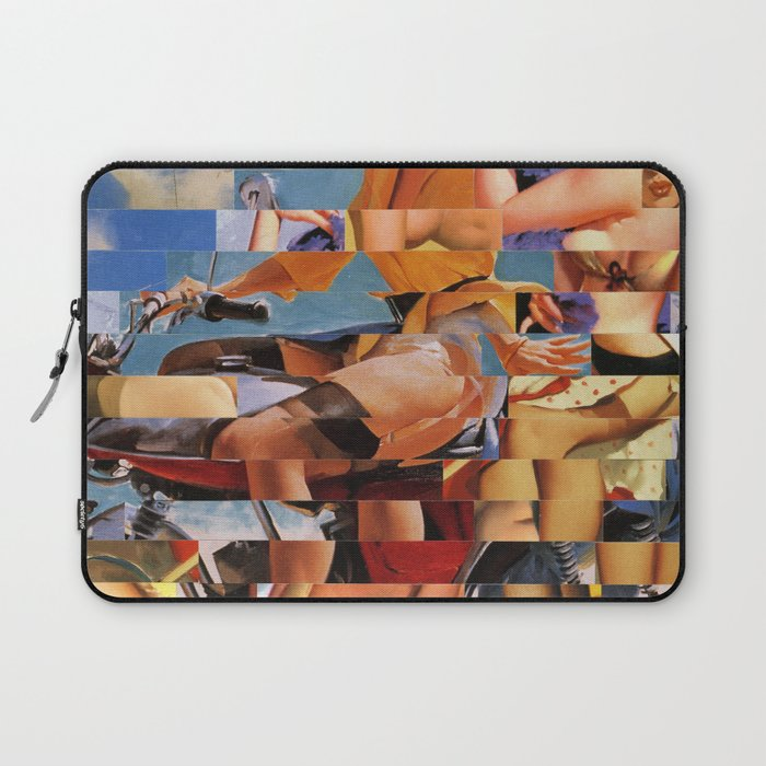 Glitch Pin-Up Redux: Zelda & Zoe Laptop Sleeve
