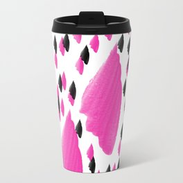 Purple Brush Pattern 2 Travel Mug