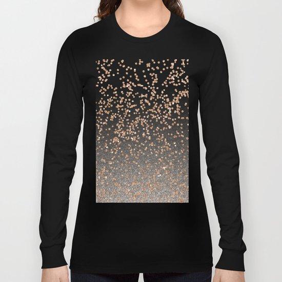 Glitter sparkle mix - rose gold & silver Long Sleeve T-shirt