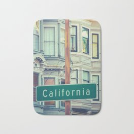 Retro California Street Sign Bath Mat