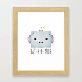 Baby Robot Framed Art Print