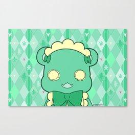 Monochromatic Kuma Lulu Canvas Print