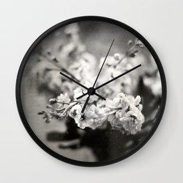Flower Bouquet Tintype Wall Clock