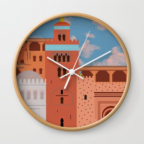 Moroccan Arch Wall Clock