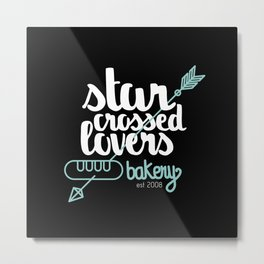 Starcrossed lovers bakery Metal Print