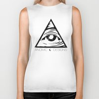 all seeing eye Biker Tanks featuring ALL SEEING EYE  by ANOMIC DESIGNS