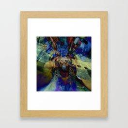 Mardi Gras Lhama Framed Art Print