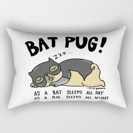 Bat Pug! Rectangular Pillow