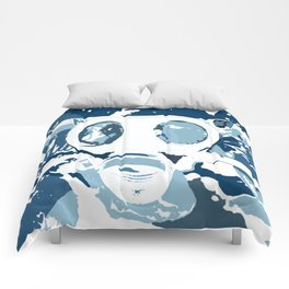 Gasmask Blues Comforters
