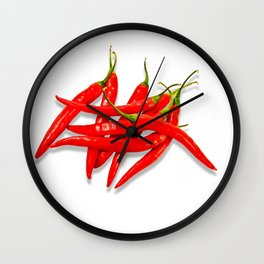 Spicy red pepper Wall Clock