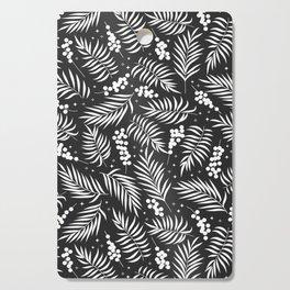 Minimal Mistletoe Bw Cutting Board