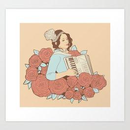 Mom's Accordion Art Print