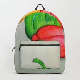 Red,yellow and green peppers Backpack