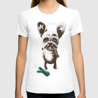 foo fighters T-shirts featuring FOO FOO FRENCHIE with Pet Bunny by Haus Of Lelu