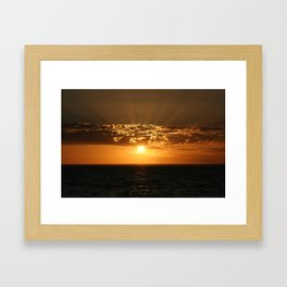 Good Night Sun Framed Art Print