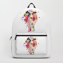 Colored Cow Backpack