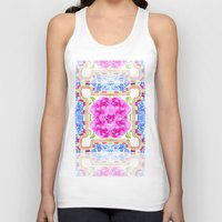 moroccan Tank Tops featuring Moroccan Rose by Yaz Raja Designs