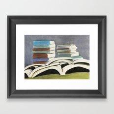 Books - Pastel Illustration Framed Art Print
