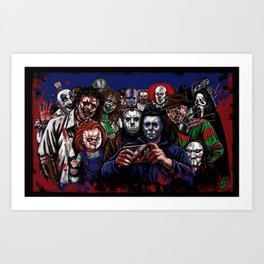 Horror Villains Selfie Art Print