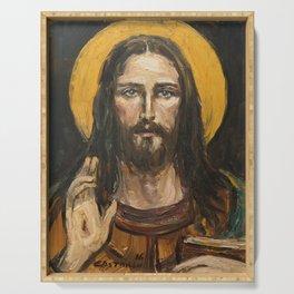 Christ Pantocrator Serving Tray