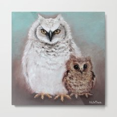 Wol and Weeps - From Owls in the Family - By Farley Mowat Metal Print