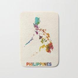 Philippines Watercolor Map Bath Mat