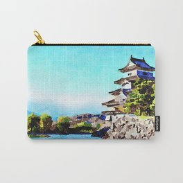 Watercolor of Matsumoto Castle Carry-All Pouch