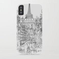Paris! B&W Slim Case iPhone X