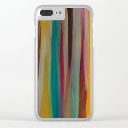 Colorful Acrylic Painting Paths Clear iPhone Case